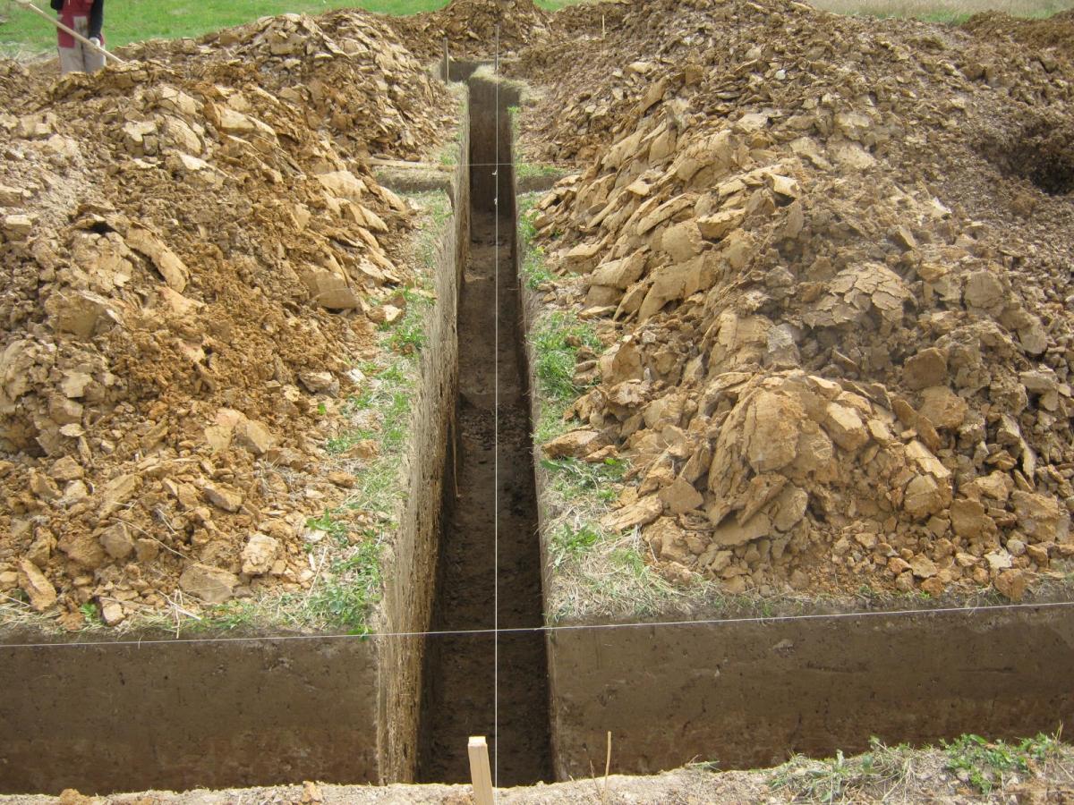 как выкопать фундамент под дом